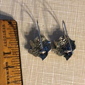 Vintage Jewelry - Sterling silver ornate rose earrings vintage 80's